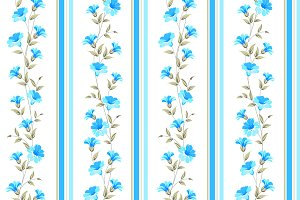 Blue flower wallpaper.