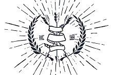 Vintage Hipster Logo