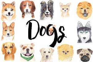 Dogs. 2018 symbol set!