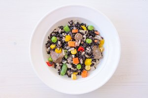 Risotto with wild black rice