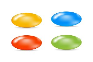 Colorful set of sugar-coated pills.