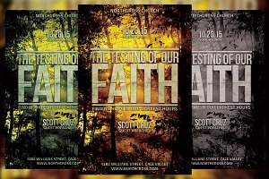 Testing of Our Faith Church Flyer