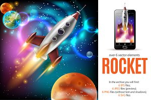 Sale! Space Rocket Set