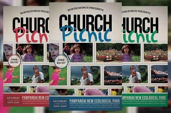 church picnic flyer flyer templates creative market