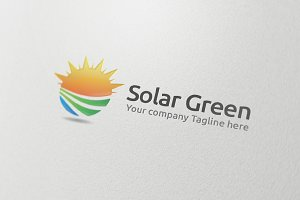 Solar Green Logo Design Template