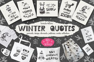 -50% Winter quotes, animals, cards.