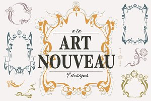 Art nouveau designs collection