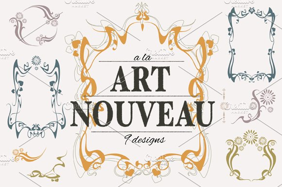 Art nouveau designs collection illustrations creative for Art nouveau shapes