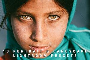10 Portrait & Landscape  presets.