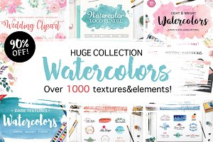 Huge Watercolor Bundle