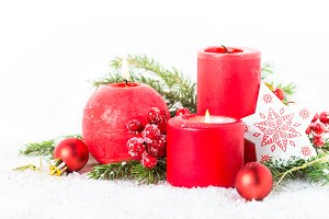 Christmas decorations background.