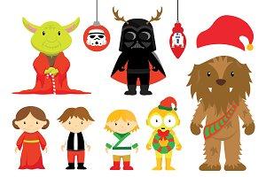 Star Wars Christmas Clipart Set