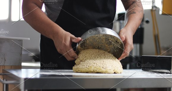 Man Cooking Home Made Bread