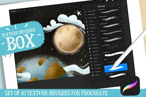 Procreate Texture Brushes Box