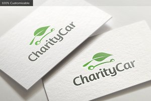 Charity Leaf Car Logo