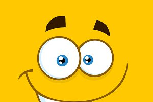 Happy Cartoon Funny Face