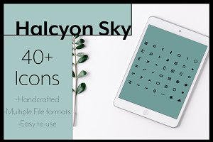 Halcyon Sky 40+ Icon set