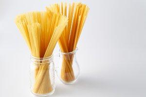 Bunch of dry Italian pasta