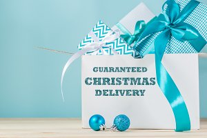 On time christmas delivery concept