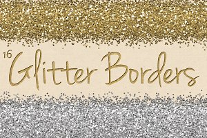 Digital Glitter Borders Clipart Pack