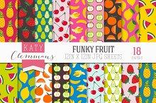 Funky Fruit digital paper pack