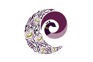 Peacock Spiral Logo