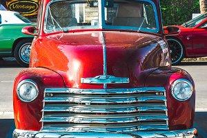 Vintage Red Pickup Truck