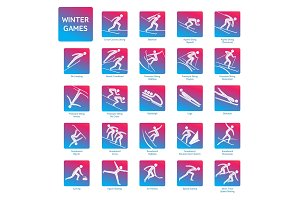 Olympic winter games icon