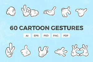 60 Cartoon Gestures