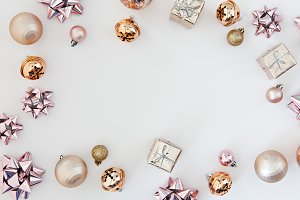 christmas deco photo border