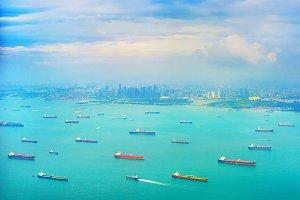 Cargo tankers ships in Singapore