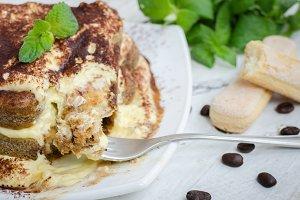 Tiramisu, traditional Italian dessert