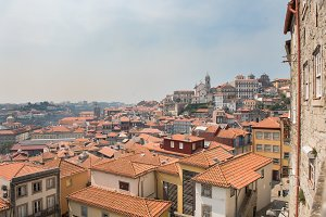 Top view of the centre of Porto