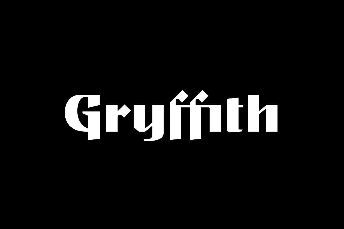 Gryffith CF: Art Deco Script-Sans ~ Blackletter Fonts ~ Creative Market