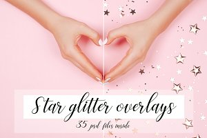 Star Glitter Overlays
