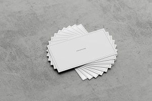 Concrete Business card Mockup Pack