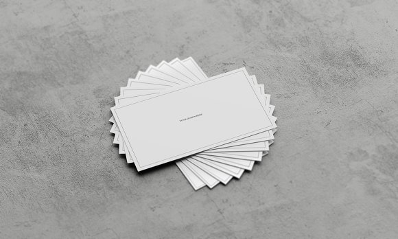 Concrete Business card Mockup Pack ~ Business Card Templates ...
