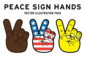 Peace Sign Hands Symbol USA hippie