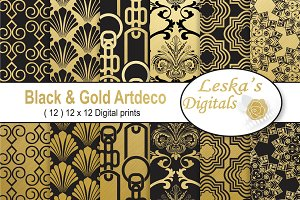 Black & Gold Digital Paper
