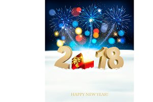 Happy New Year background with 2018,