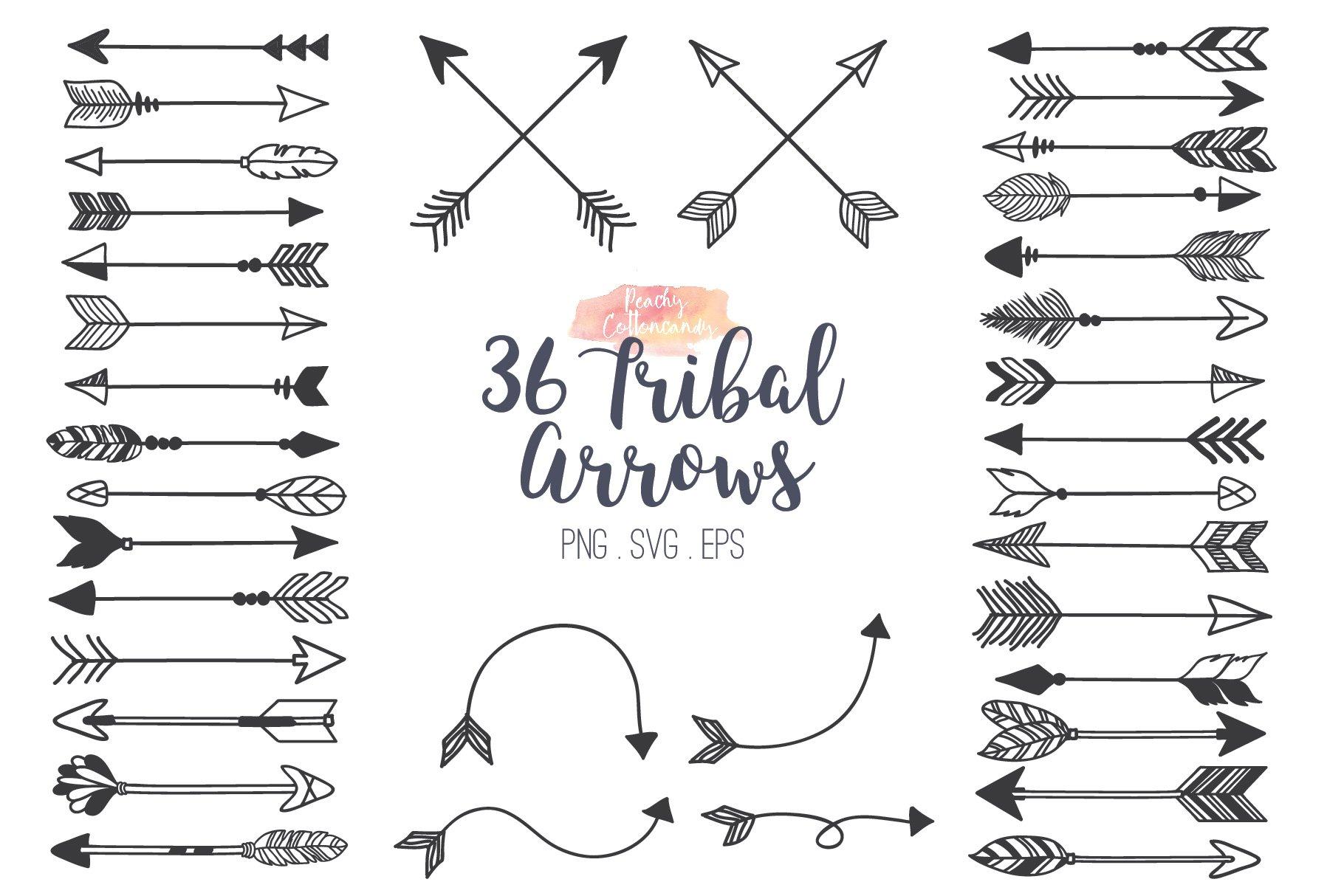 tribal arrows clipart illustrations creative market