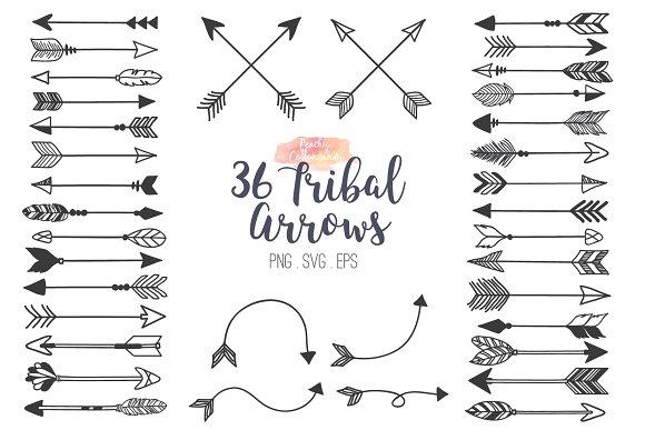 Arrow tribal. Arrows clipart