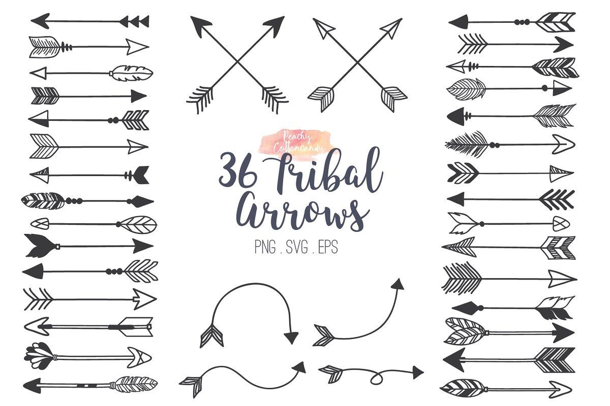Arrow tribal. Arrows clipart illustrations creative
