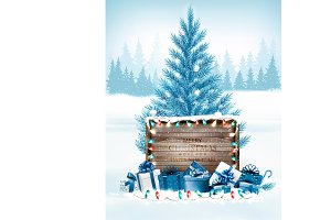 Christmas holiday background with a