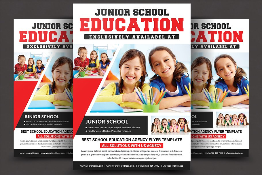 Kids Education Flyer Template Flyer Templates Creative Market Pro