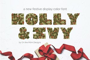 Holly & Ivy Color Display Font