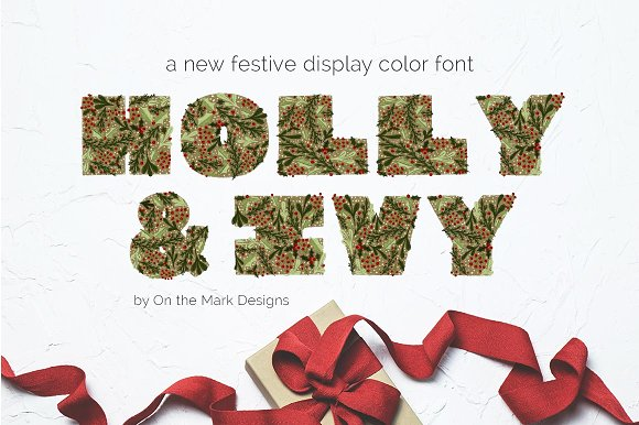 Holly & Ivy Color Display F-Graphicriver中文最全的素材分享平台