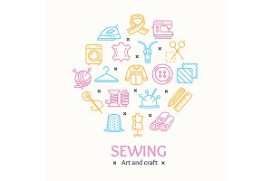 Sewing and Needlework Tool Icon