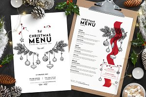 Christmas Menu Template Vol.3