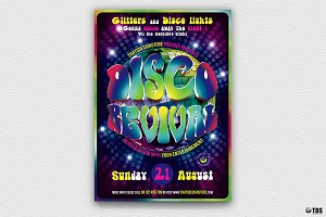 Disco Revival Flyer Template V3
